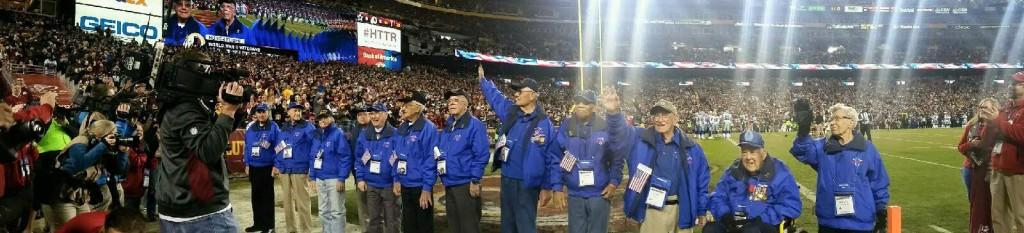 WW2 veterans monday night football game