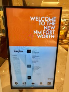 Digital signage at Neiman Marcus
