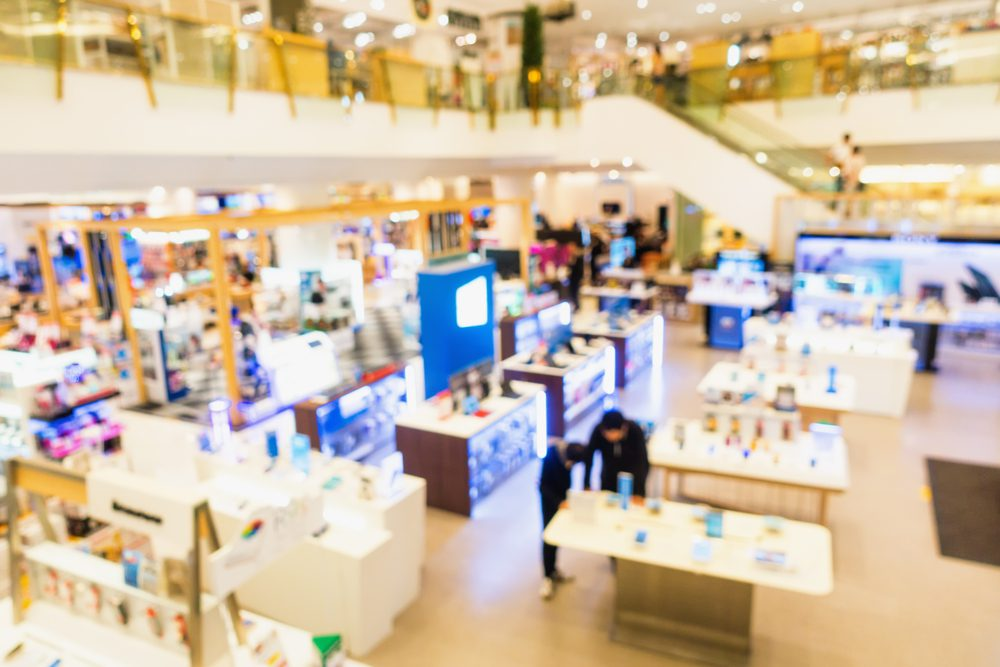 inside retail store